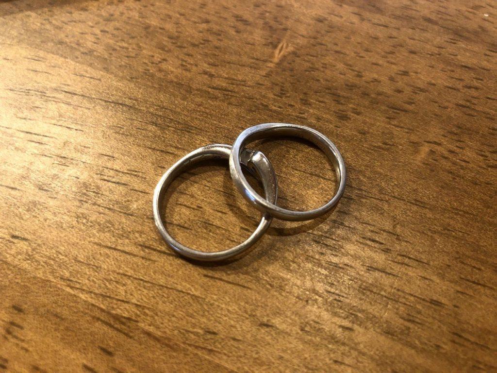 修理した指輪